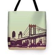 New York Manhattan Bridge Tote Bag