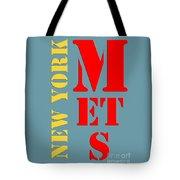 New York Mets Baseball New Typography Tote Bag