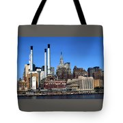 New York Mid Manhattan Skyline Tote Bag