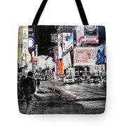 New York Night Life Tote Bag