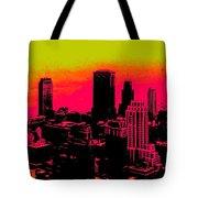 New York Pink Tote Bag
