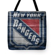 New York Rangers Barn Door Tote Bag