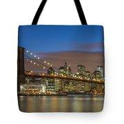 New York Skyline - Brooklyn Bridge - 4 Tote Bag