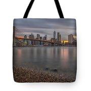 New York Skyline - Brooklyn Bridge - 9 Tote Bag