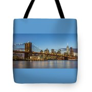 New York Skyline - Brooklyn Bridge Tote Bag