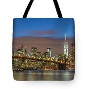 New York Skyline - Brooklyn Bridge Panorama - 2 Tote Bag