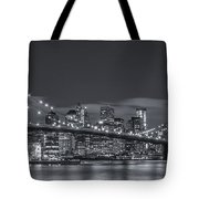 New York Skyline - Brooklyn Bridge Panorama - 4 Tote Bag