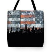 New York Skyline Usa Flag 5 Tote Bag