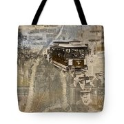 New York Trolley Vintage Photo Collage Tote Bag