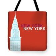 New York Vertical Scene - Chrysler Building Tote Bag