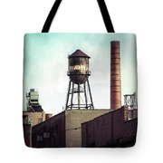 New York Water Towers 19 - Urban Industrial Art Photography Tote Bag by Gary Heller