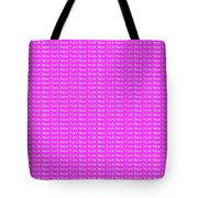 New York - White On Pink Background Tote Bag