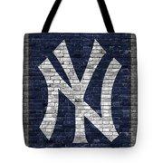 New York Yankees Brick Wall Tote Bag