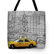 New York Yellow Cab Tote Bag