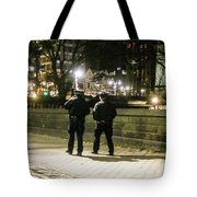 New Yorks Finest Walking The Beat Tote Bag