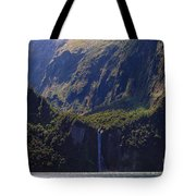 New Zealand Stirling Falls In Hanging Valley Tote Bag