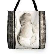 Newborn Baby In Crate Filtered Tote Bag