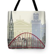Newcastle Skyline Poster Tote Bag