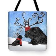 Newfie Reindeer Tote Bag