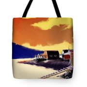 Newfoundland Fishing Shacks Tote Bag