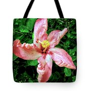 Newly Opened Coral Hibiscus Tote Bag