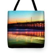 Newport Beach Pier At Sunrise Tote Bag