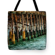 Newport Beach Pier Close Up Tote Bag