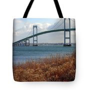 Newport Bridge Newport Rhode Island Tote Bag