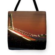 Newport Bridge Twilight Tote Bag