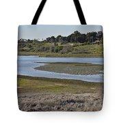 Newport Estuary Looking Across At Visitors Center  Tote Bag