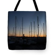 Newport Harbor Rhode Island Boats At Sunset Tote Bag