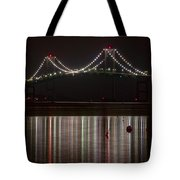 Newport Pell Bridge Tote Bag
