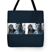 Neytiri And Jake - Gently Cross Your Eyes And Focus On The Middle Image Tote Bag