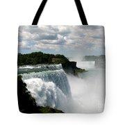 Niagara Falls American And Canadian Horseshoe Falls Tote Bag