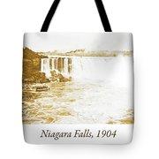 Niagara Falls Ferry Boat, 1904, Vintage Photograph Tote Bag