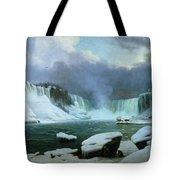 Niagara Falls Tote Bag by Hippolyte Victor Valentin Sebron