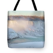 Niagara Falls In Wintertime Tote Bag