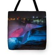 Niagara Falls Light Show Tote Bag