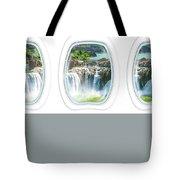Niagara Falls Porthole Windows Tote Bag