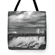 Niagara Falls - The American Side 3 Bw Tote Bag