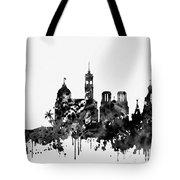 Nice Skyline-black Tote Bag