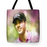 Nick Dougherty In The Golf Trophee Hassan II In Morocco Tote Bag
