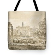 Nicolas-didier Boguet   1755 - 1839   View Of The Roman Forum With The Temple Of Castor Tote Bag