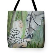 Nicole And Cellie Tote Bag by Isabella F Abbie Shores FRSA