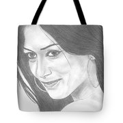 Nicole Scherzinger Tote Bag