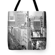Nicollet Mall From Dayton's 12th Floor Tote Bag by Mike Evangelist