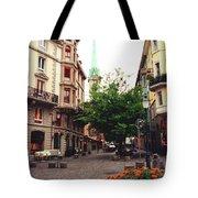 Niederdorf Square In Zurich Switzerland Tote Bag