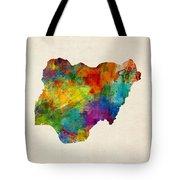Nigeria Watercolor Map Tote Bag