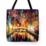 Night Amsterdam Tote Bag