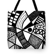 Black And White 20/night And Day 1 Tote Bag